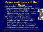 origin and history of the moon2