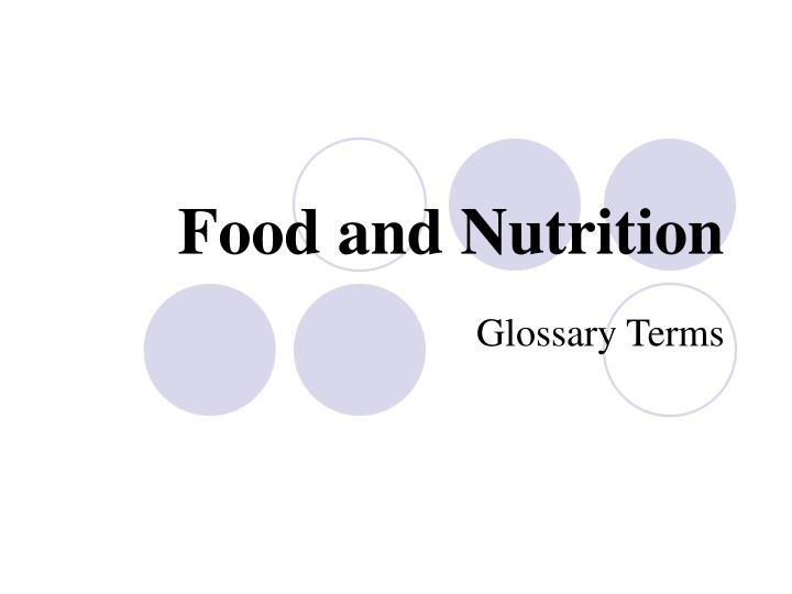food and nutrition n.