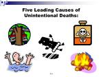 five leading causes of unintentional deaths