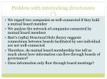 problem with interlocking directorates