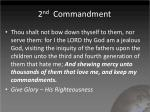 2 nd commandment1