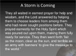 a storm is coming1