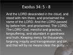 exodus 34 5 8