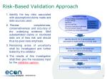 risk based validation approach