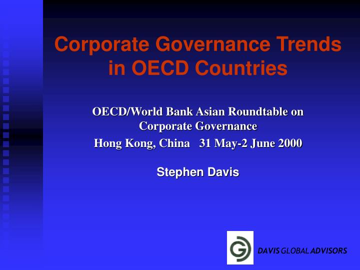 corporate governance trends in oecd countries n.
