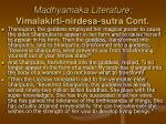 madhyamaka literature vimalakirti nirdesa sutra cont