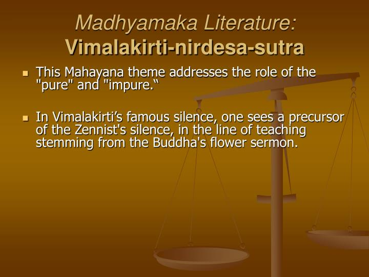 Madhyamaka Literature: