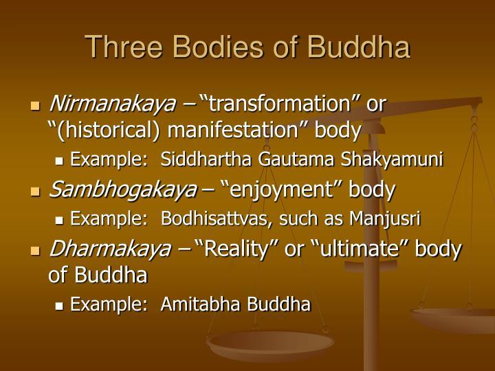 Three bodies of buddha