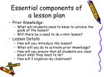 essential components of a lesson plan1