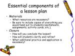 essential components of a lesson plan3