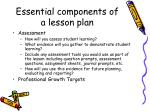 essential components of a lesson plan4