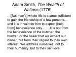 adam smith the wealth of nations 17761