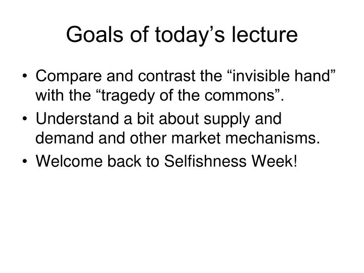 goals of today s lecture n.