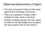observed phenomena i hope