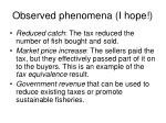 observed phenomena i hope1