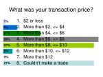 what was your transaction price2