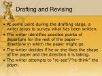 drafting and revising