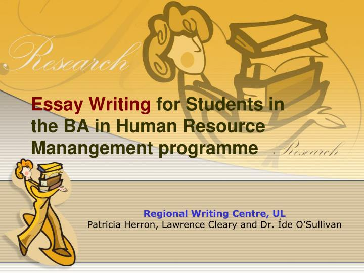 essay writing for students in the ba in human resource manangement programme n.