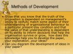 methods of development1