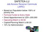 safetea lu job access reverse commute jarc1