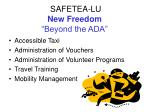 safetea lu new freedom beyond the ada1