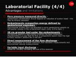 laboratorial facility 4 4 advantages and limitations