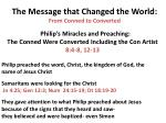 the message that changed the world from conned to converted1