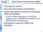 nmci product evaluation center npec