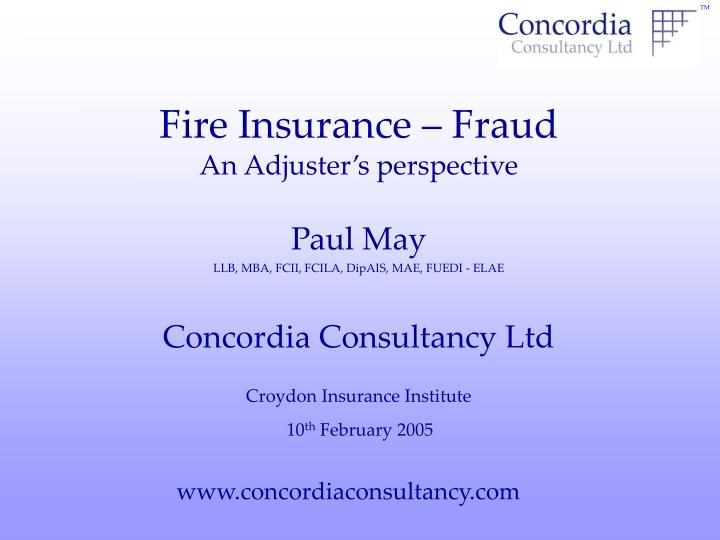 fire insurance fraud an adjuster s perspective n.