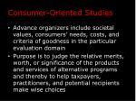 consumer oriented studies2