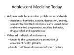 adolescent medicine today