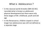 what is adolescence1