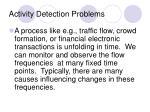 activity detection problems