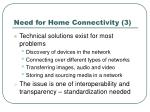 need for home connectivity 3