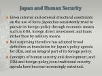 japan and human security