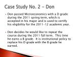 case study no 2 don
