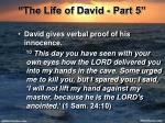 the life of david part 517