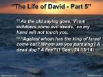 the life of david part 521