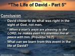 the life of david part 527