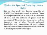 mind as the agency of protecting human rights