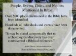 people events cities and nations mentioned in bible