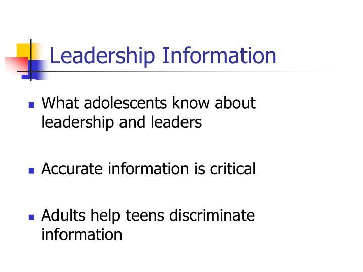 Leadership Information
