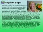 stephanie barger