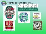 thanks to our sponsors1