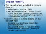 impact factor 2