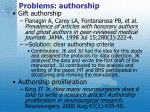 problems authorship