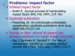 problems impact factor