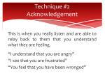 technique 2 acknowledgement