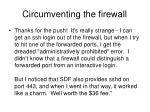 circumventing the firewall