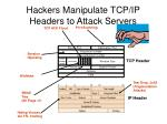 hackers manipulate tcp ip headers to attack servers